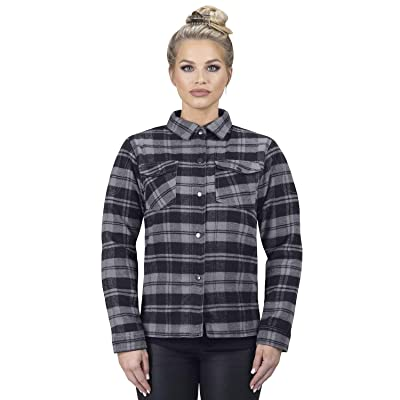Viking Cycle Motorcycle CE Armor Protection Flannel Shirt for Biker Women: Clothing