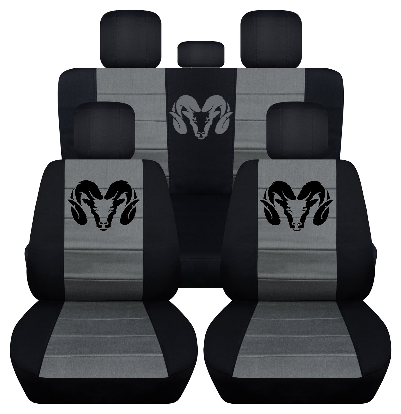 Dodge Logo Seat Covers Velcromag
