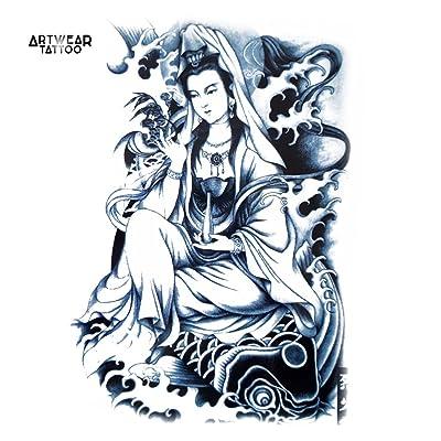 "Tatouage Temporaire ""Princess Koi 2"" - ArtWear Tattoo - B0294 M"