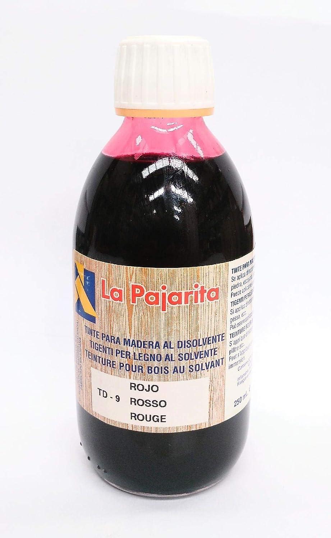 LA PAJARITA TINTE ROJO PARA MADERA AL DISOLVENTE 250 ML ...