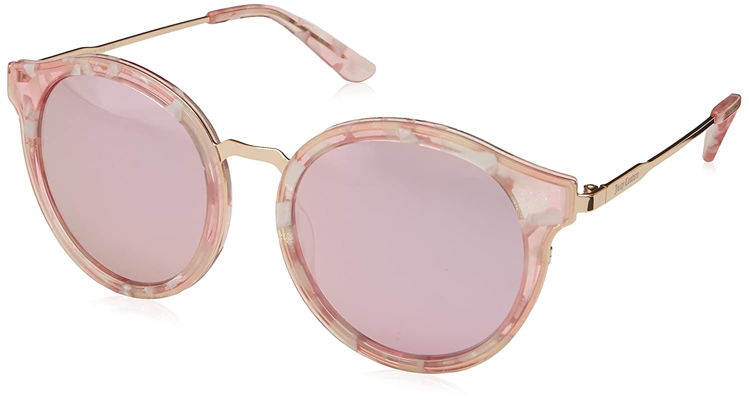 dad587e2ff8510 Amazon.com  Juicy Couture Women s Ju596 s Round Sunglasses, Pink Gold, 52  mm  Clothing