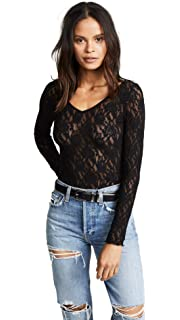 Hanky Panky Women s Signature Lace Unlined Long Sleeve Top at Amazon ... 9559f6dd3