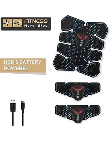 NOWKIN EMS Electroestimulador Muscular Abdominales, Recargable Entrenador Muscular con USB, Masajeador Eléctrico Cinturón para