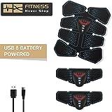 NOWKIN Elettrostimolatore per Addominali, Portatile EMS Addominali Trainer con USB ABS Stimolatore per Addome/Braccio/Gambe/Waist/Glutei/Uomo&Donna ……