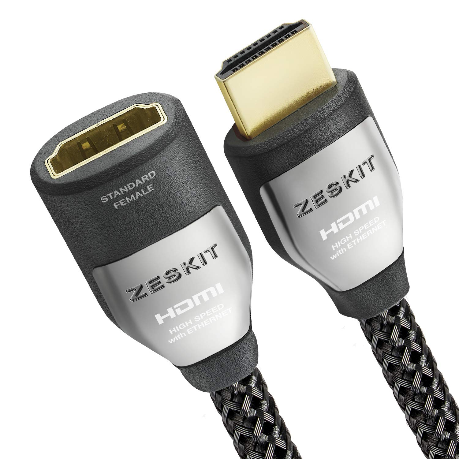 HDMI 2.0 Extension Cable 6.5ft Cinema Plus (4K 60Hz HDR Dolby Vision HDCP 2.2) Exceed 22.28Gbps Compatible with Roku Fire Stick/TV Xbox PS4 Pro Apple TV 4K Netflix LG Sony Samsung (Male to Female)