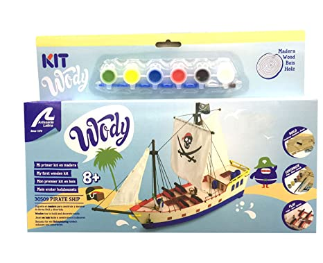 Amazoncom Artesania Latina Junior Wody Wood Model Kit Pirate