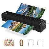 TOQIBO Laminiergerät Din A3 Laminiergeraet A3 und A4 mit 250mm/min Schnelle Aufwärmgeschwindigkeit Heiß- und Kaltlaminieren mit 2 Rollen ABS-Funktion, Für Dokumente/Fotos/Handkarten