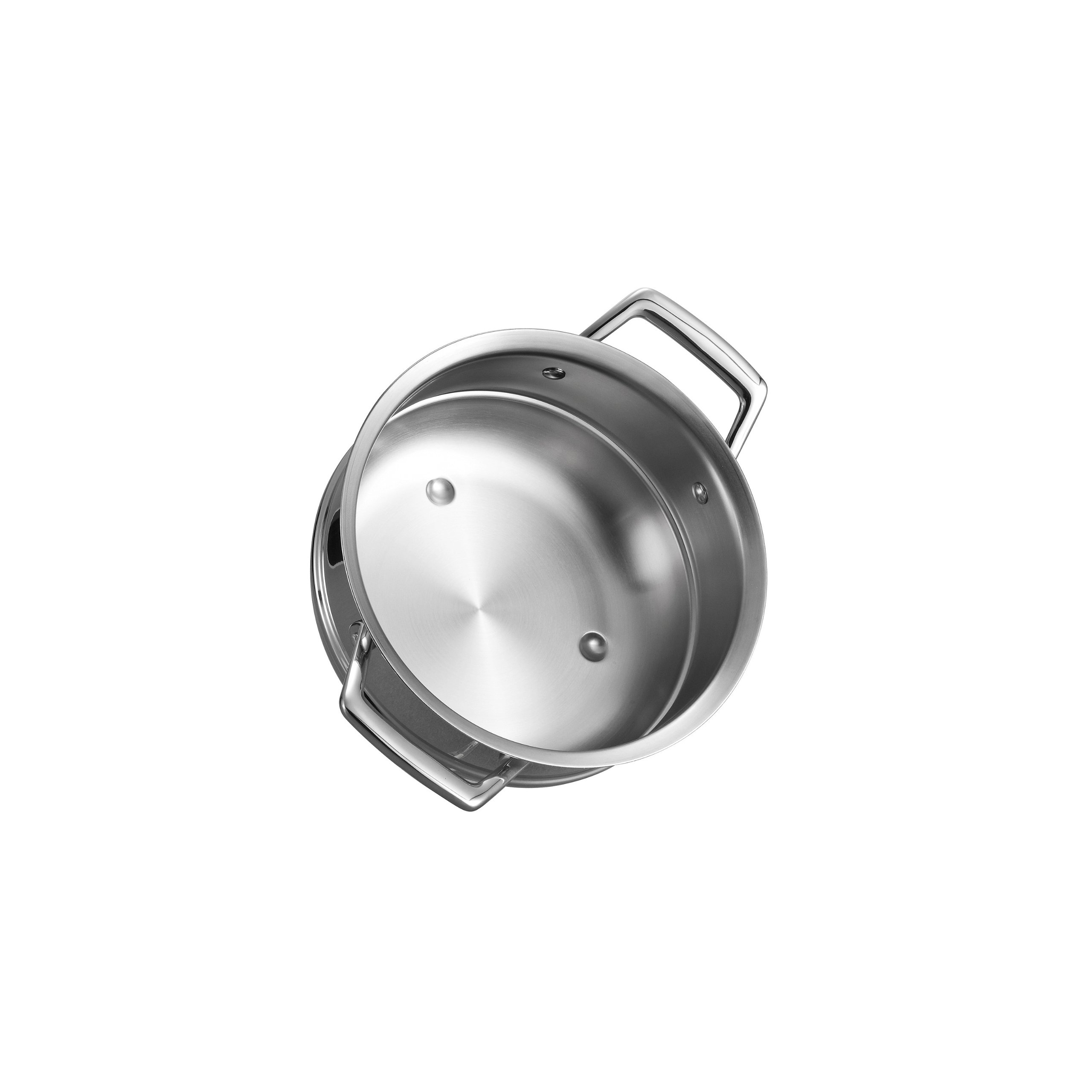 Tramontina 80101/027DS Gourmet Prima Stainless Steel Double Boiler Insert (20cm - Fits 3Qt & 4 Qt Saucepans), 8 inch, Made in Brazil by Tramontina