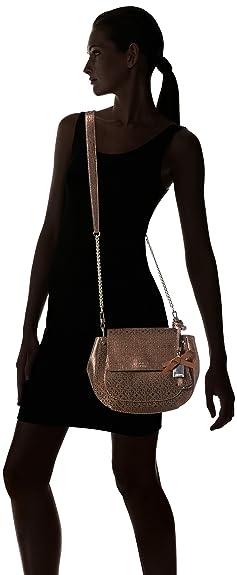 Main Sacs Saddle Marian Femme Crossbody À Guess bronze Bag Marron 7wO7Ax