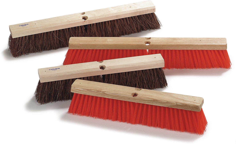 Carlisle 4522200 Flo-Pac Garage Floor Sweep with Brace, Palmyra Bristles, 24'' Length x 2-5/8'' Width, 4'' Bristle Trim (Case of 12)