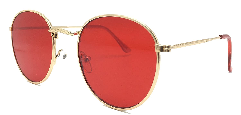Optica Vision-Specs gafas de sol redondas metal john lennon, Es marca Blanca no logo, Ref. V105, Color red, Flat lens