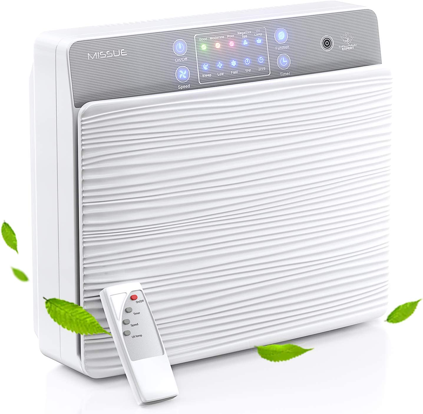 HEPA Air Purifier for Home Medium Room Bedroom, H13 HEPA Filter Smart Air Purifier with Air Quality Sensor, Sleep Mode,Timer, 7-Stage Filtration Keep The Air Truly Clearn and Fresh