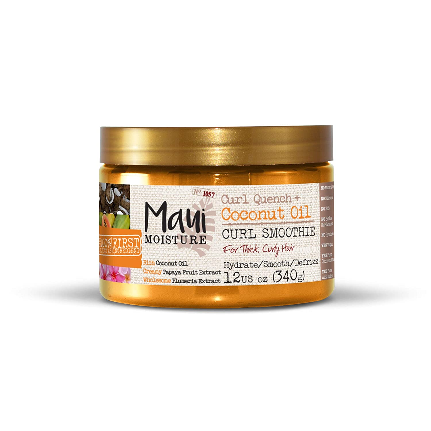 Maui Moisture Curl Quench + Coconut Oil Curl Smoothie 340g Vogue International 7093500