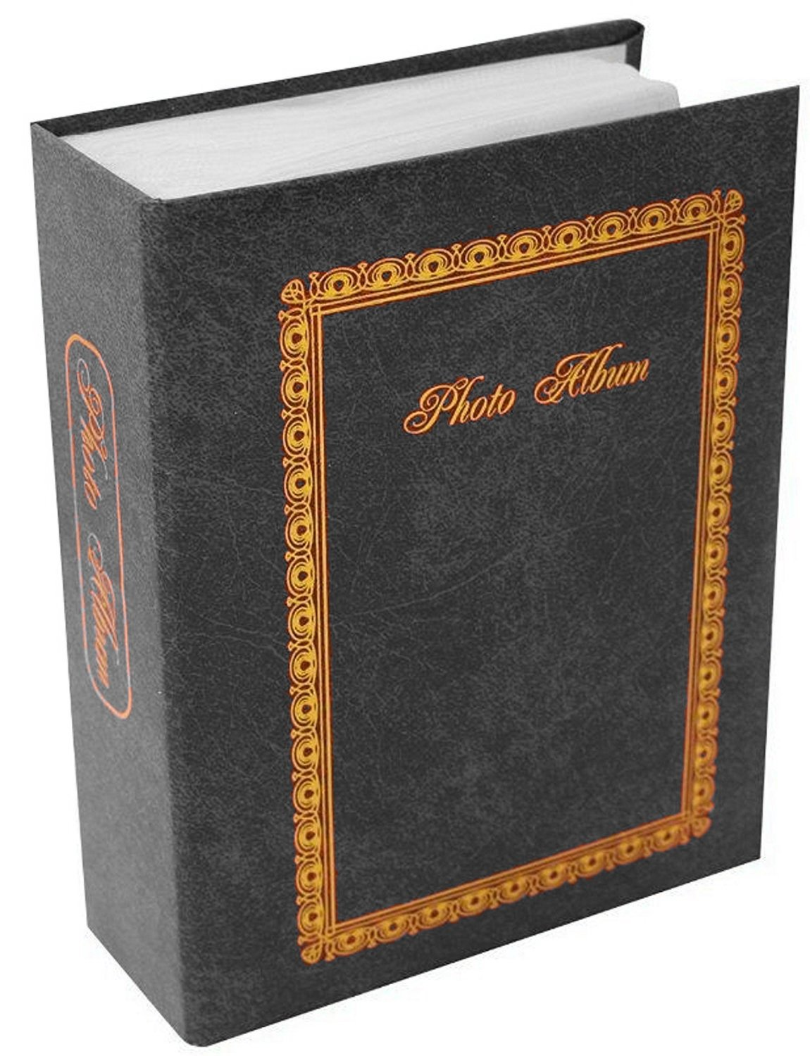 1 x Leather Look 13 x 16cm Pocket Photo Album Holds 100 6 x 4