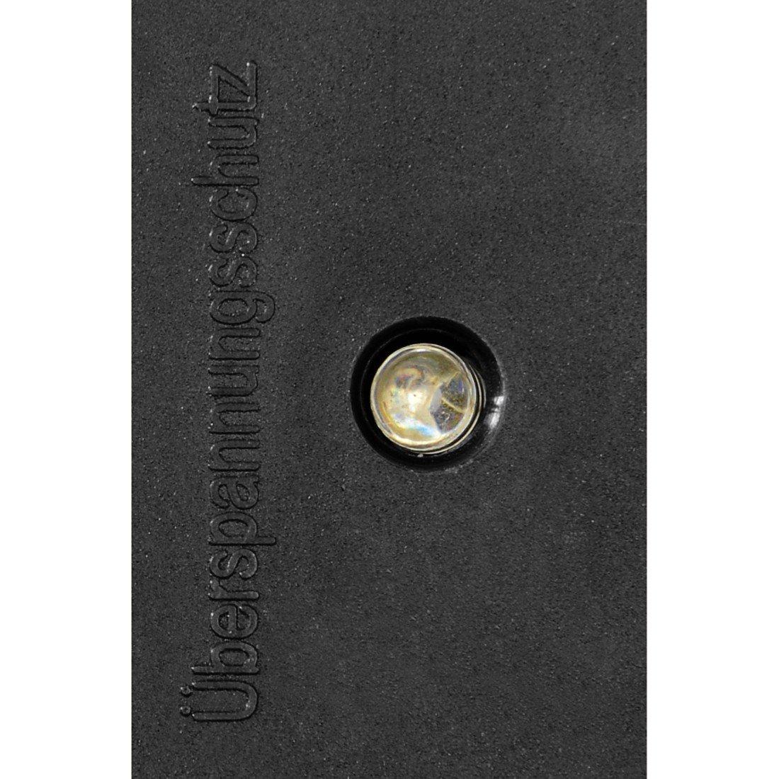 6-fach, 45/° gedreht, Kindersicherung, 1,4m Kabell/änge Hama Steckdosenleiste einzeln schaltbar Mehrfachsteckdose schwarz mit /Überspannungsschutz