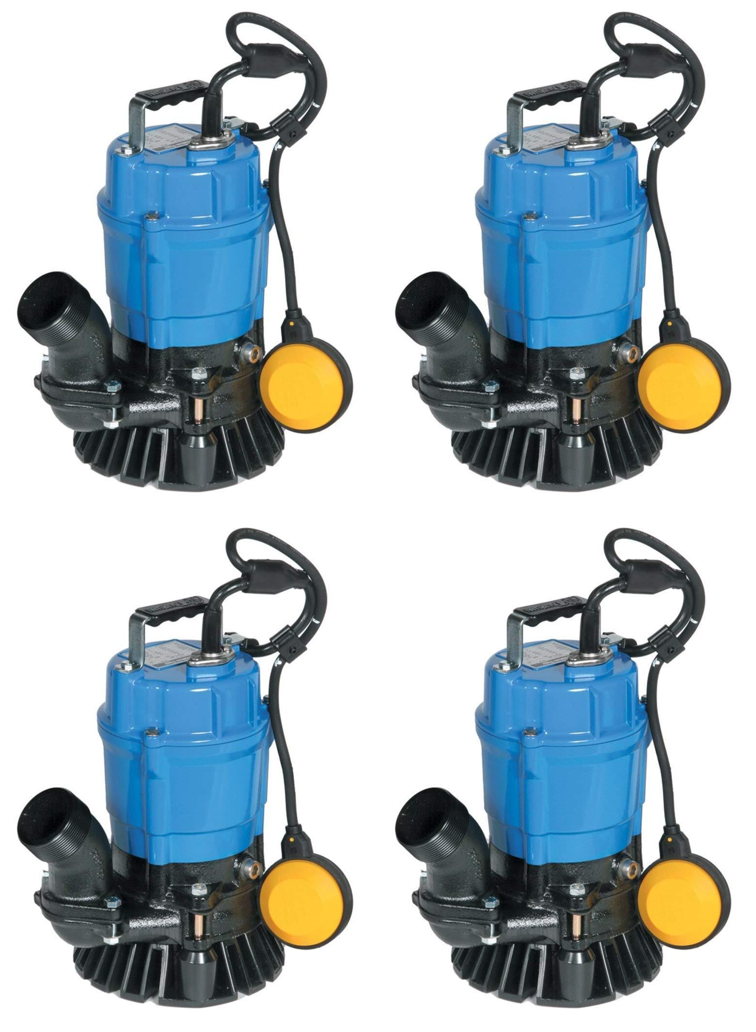 Tsurumi HSZ2.4S; Float Operated semi-Vortex Submersible Trash Pump w/Agitator, 1/2hp, 115V, 2'' Discharge (Fоur Расk)