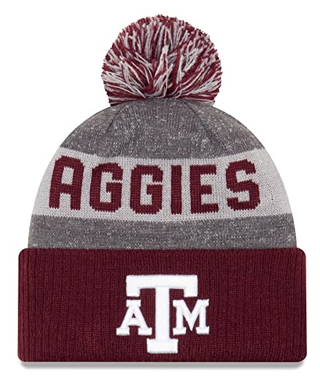 brand new cee85 2fcf3 Image Unavailable. Image not available for. Color  Texas A M Aggies New Era  NCAA  quot Sport Knit quot  Cuffed Hat with Pom