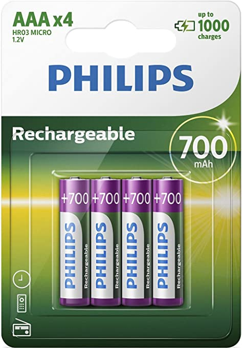Philips R03b4a70 10 Batterien Aaa Wiederaufladbar 4 Elektronik