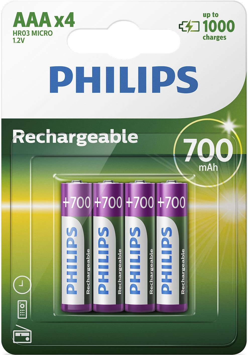 700 mAh Bater/ía micro AAA de Philips