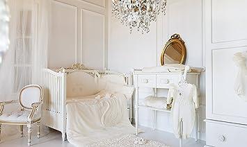 Bébé Fille Blanc Luxe Chambre d\'enfant Lit Bébé Tour de lit ...