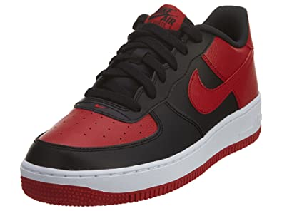 finest selection 5616d 5ca2a Nike Boy's Air Force 1 Low Basketball Sneaker Black/Gym Red/White