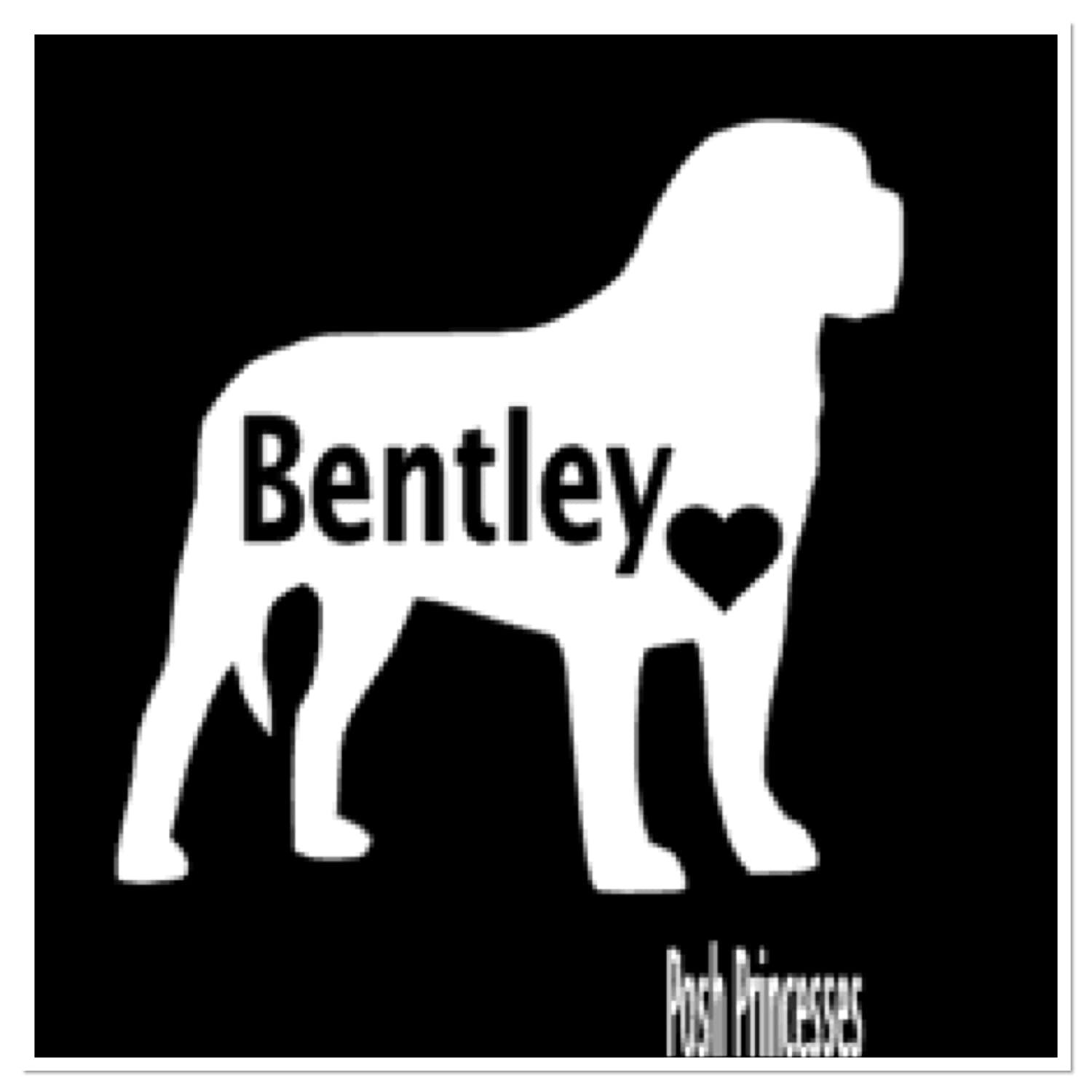 Amazon com english mastiff personalized vinyl decal dog decal car window decal dog food container decal laptop sticker white 3x 3 handmade