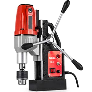 "Mophorn 980W Magnetic Drill Press with 1.37""(35mm) Boring Diameter Magnetic Drill Press Machine 2250LBS Magnetic Force Magnetic Drilling System 680RPM Portable Electric Magnetic Drill Press"