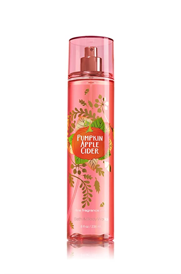 Bath Body Works Pumpkin Apple Cider Fragrance Mist 8 Ounce Full Size Beauty