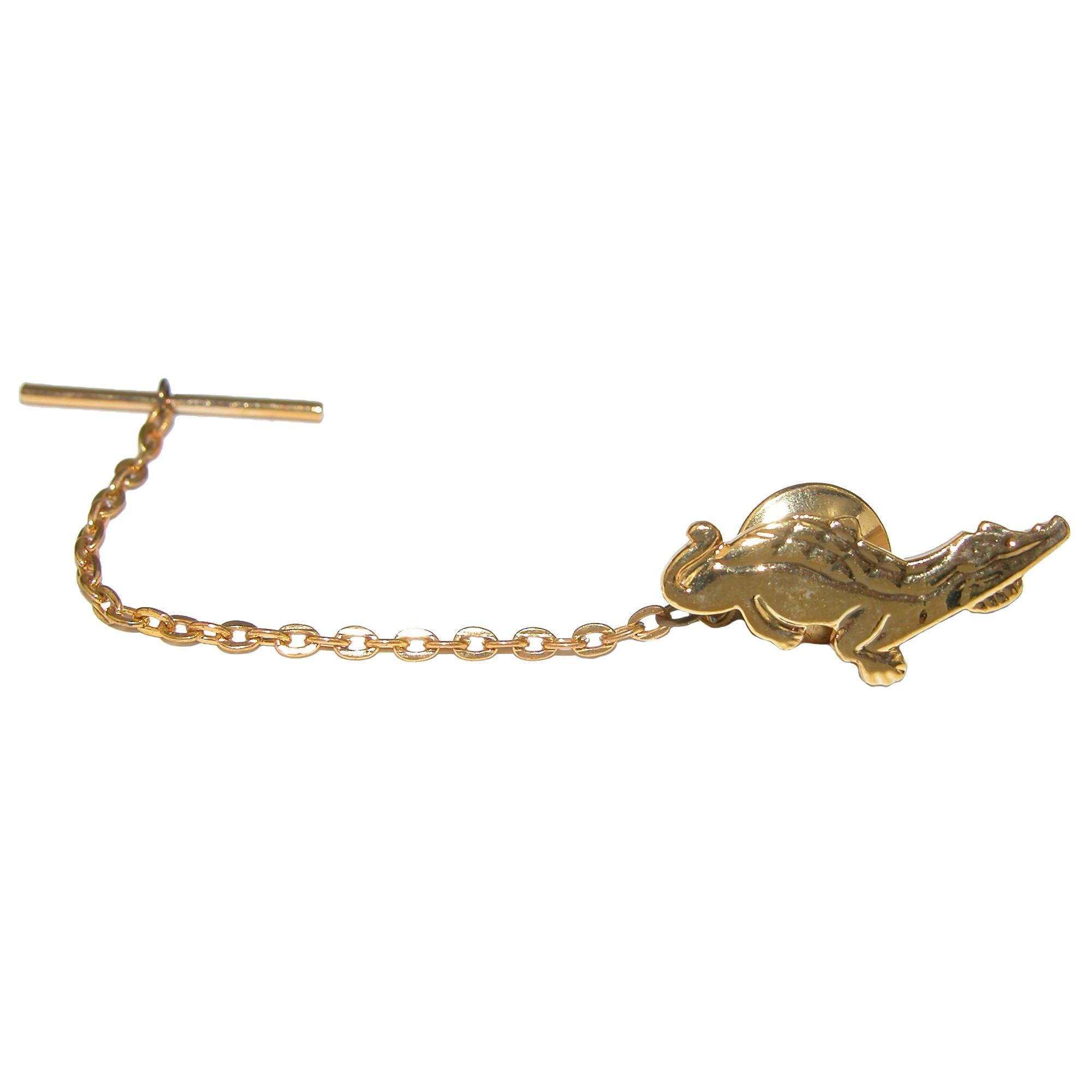 Cuffs New York Men's Alligator Tie Tac, Gold by Cuffs New York (Image #2)