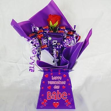 Valentines I Love You Cadbury Dairy Milk Sweet Chocolate Bouquet
