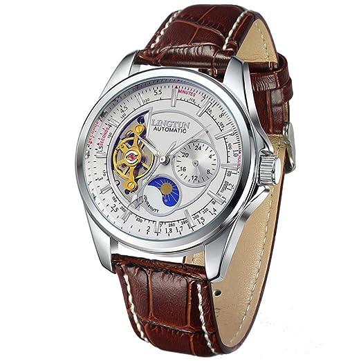HombresS relojes huecos,Relojes luminosos relojes mecánicos relojes deportivos-A