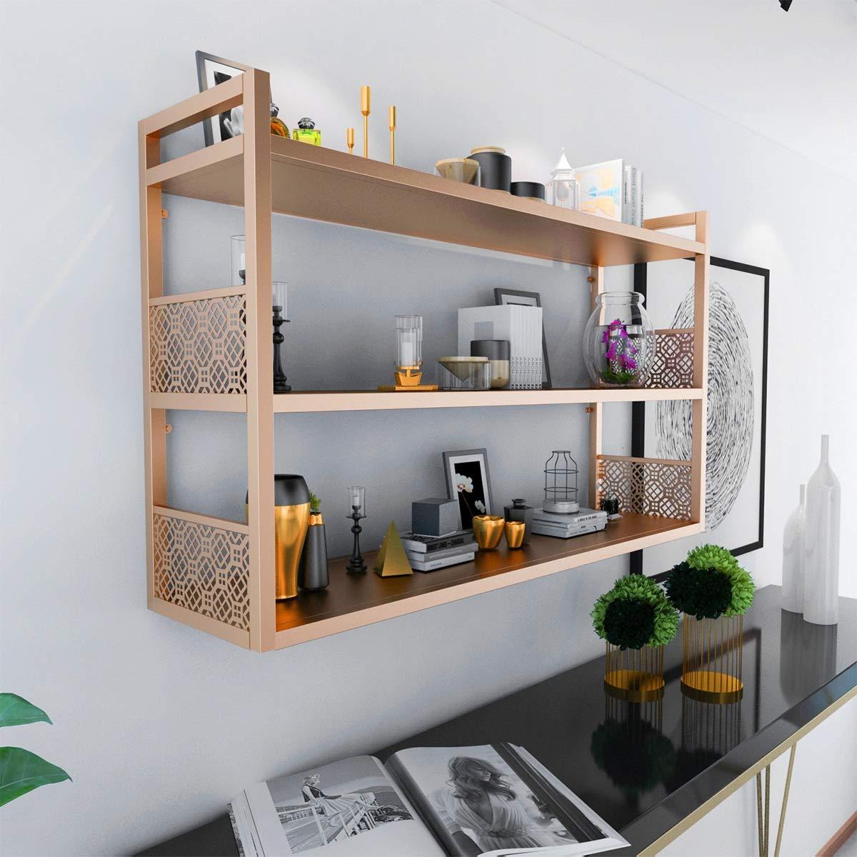 Wohnzimmer Farbe Gold: Regale & Ablagen Aufbewahren & Ordnen Farbe : Gold, Größe