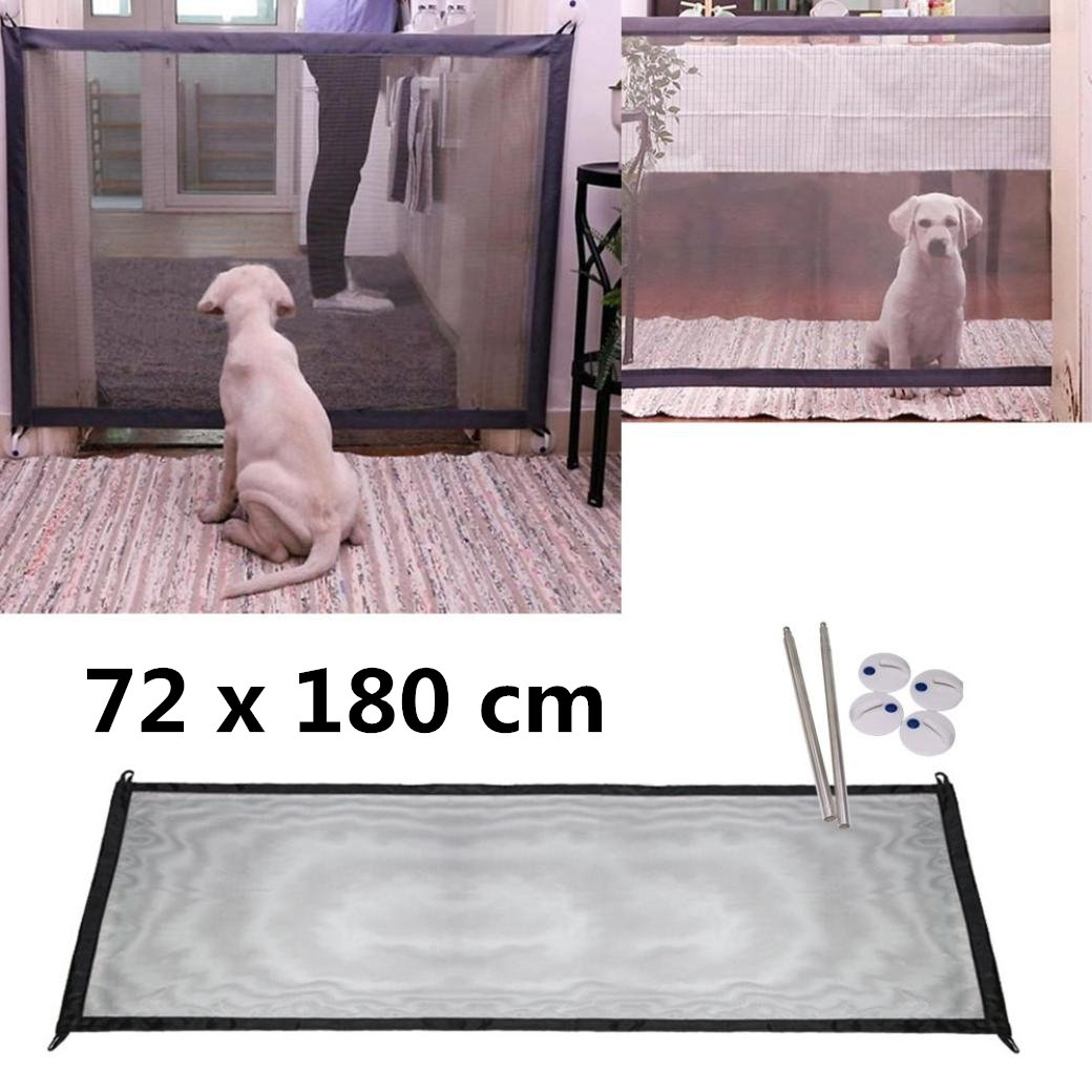 Magic Gate Pet Guard – Portable Folding Safe Guard intérieur/extérieur Protection de sécurité (Pet Safety ENCLOSURE) huichang