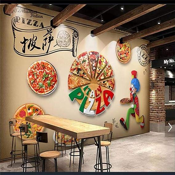 Papel Pintado Papel tapiz 3d mural pizzería restaurante occidental hotel pared de fondo,500x320cm(WxH): Amazon.es: Bricolaje y herramientas