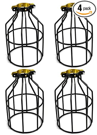 Newhouse Lighting Metal Lamp Guard For Pendant String Lights And Vintage  Lamp Holders, Industrial Wire