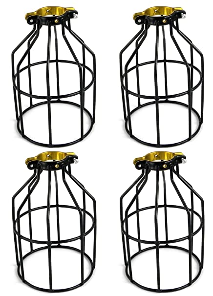 Adx metal lamp guard for string lights and lamp holders industrial wire iron bird cage