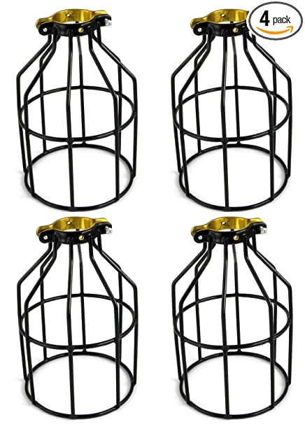 Newhouse lighting metal lamp guard for pendant string lights and vintage lamp holders industrial wire