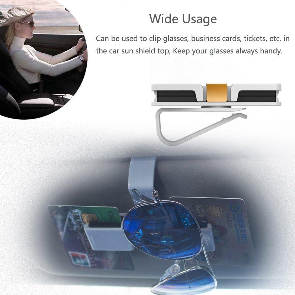 Iceblueor KFZ-Brillenhalterung f/ür die Sonnenblende//L/üftung f/ür 2 Brillen oder Karten//Bargeld schwarz