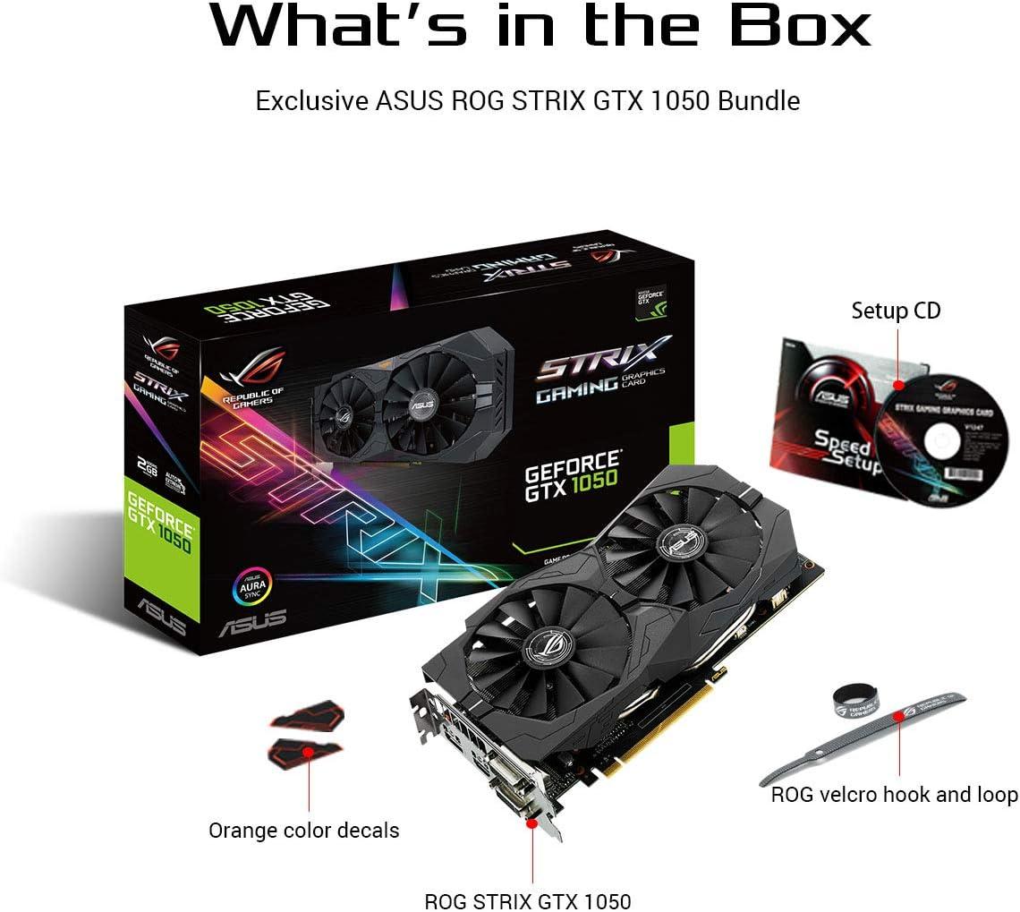 ASUS EX-GTX1050-O2G - Tarjeta gráfica (NVIDIA GeForce GTX 1050, 2 ...
