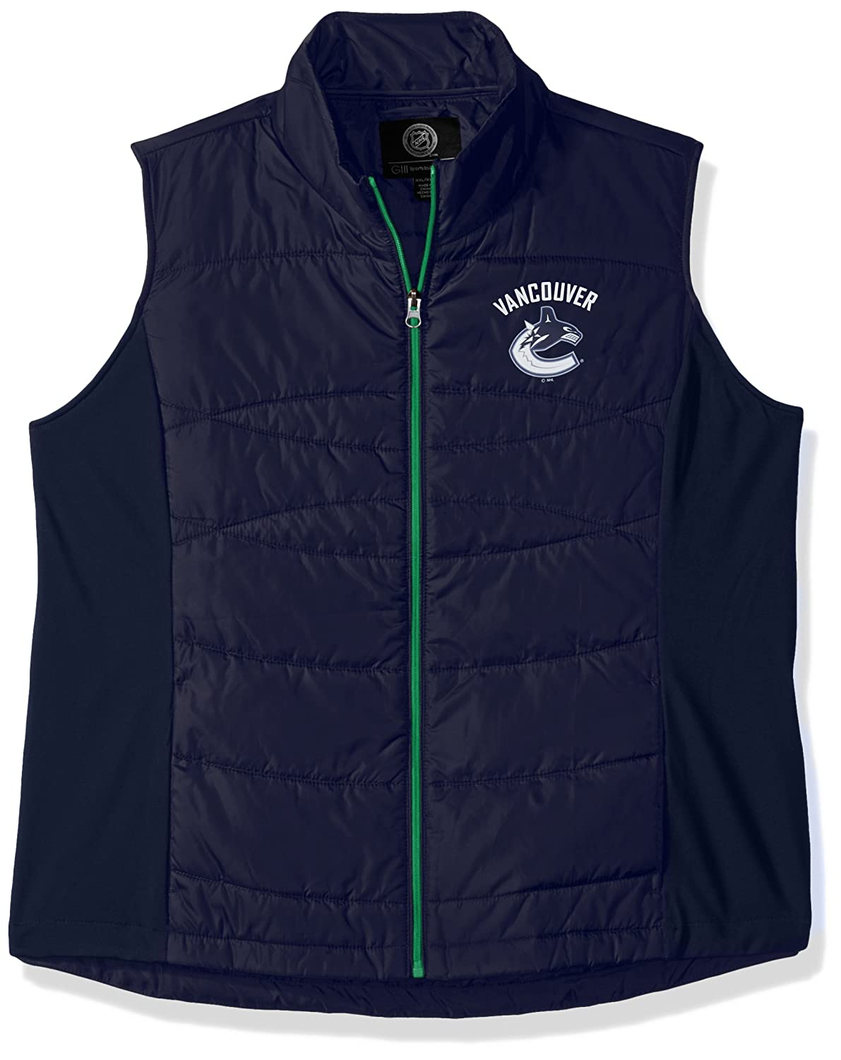 GIII For Her Women's Wing Back Vest, Navy, Large G-III Licensed Apparel NMY10119