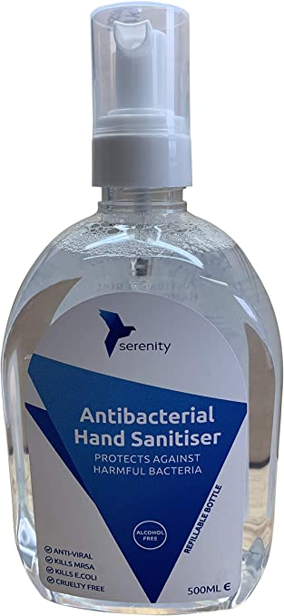 Serenity Alcohol Free Hospital Grade Antibacterial Hand Sanitiser