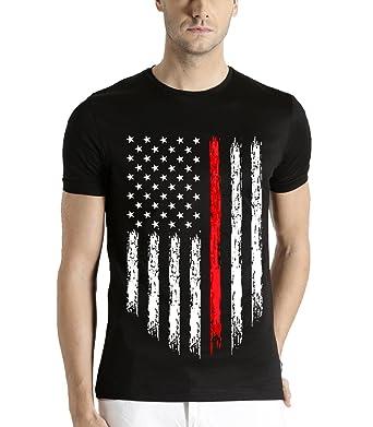451db679f98c5f ADRO Men's Cotton T-Shirt (Rnr-M-Usa-Nb): Amazon.in: Clothing ...