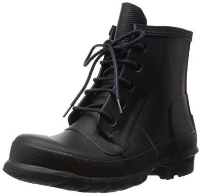 7e48c09204cf Hunter Womens Original Lace-Up Black Rain Boot - 6