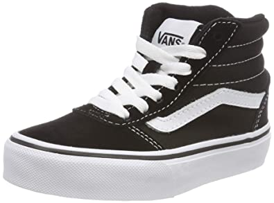 53f8cce098 Vans Ward Hi Round Toe Canvas Skate Shoe (1 Little Kid M