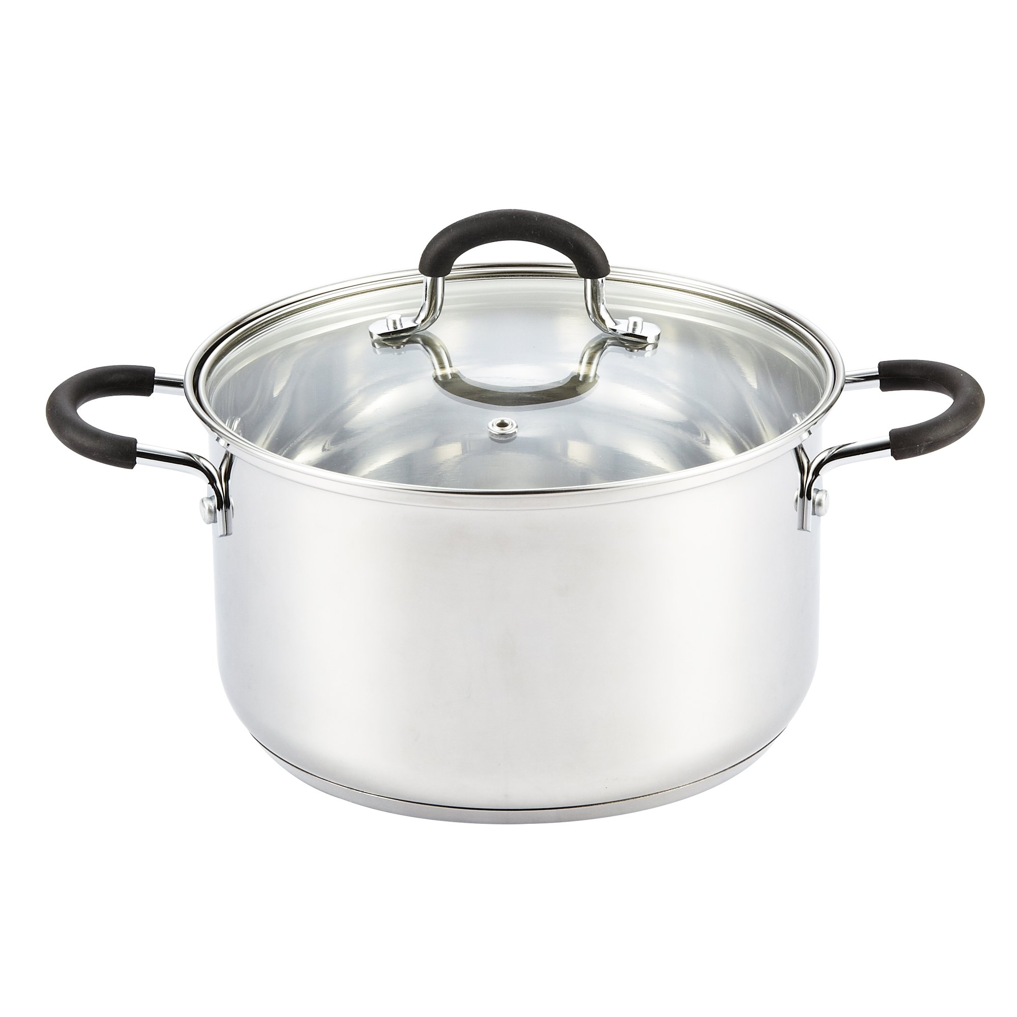 Cook N Home 02418 Stainless Steel Lid 5-Quart Stockpot, 5-Qt, Silver by Cook N Home