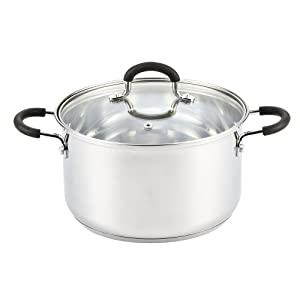 Cook N Home 02418 Stainless Steel Lid 5-Quart Stockpot 5-Qt Silver