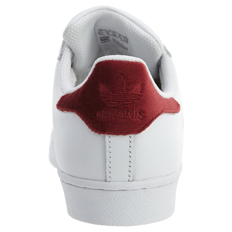 adidas Women's Originals Superstar B076HVRSL9 9 B(M) US|Running / White / Collegiate Burgundy / US|Running Running White a3412b