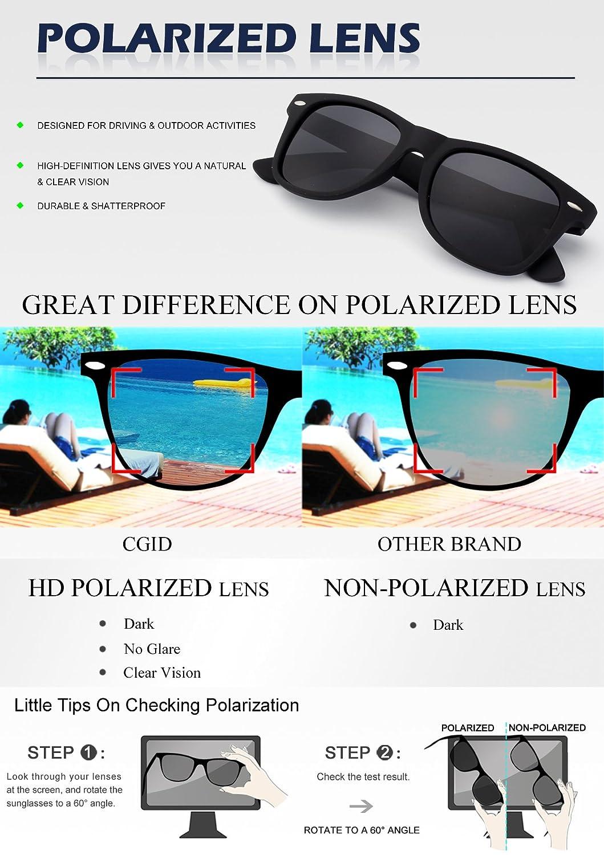fb9175cc98a8 CGID Classic Polarized Sunglasses 80's Retro Horn Rimmed Unisex Men Women Sun  Glasses Mirrored: Amazon.ca: Clothing & Accessories