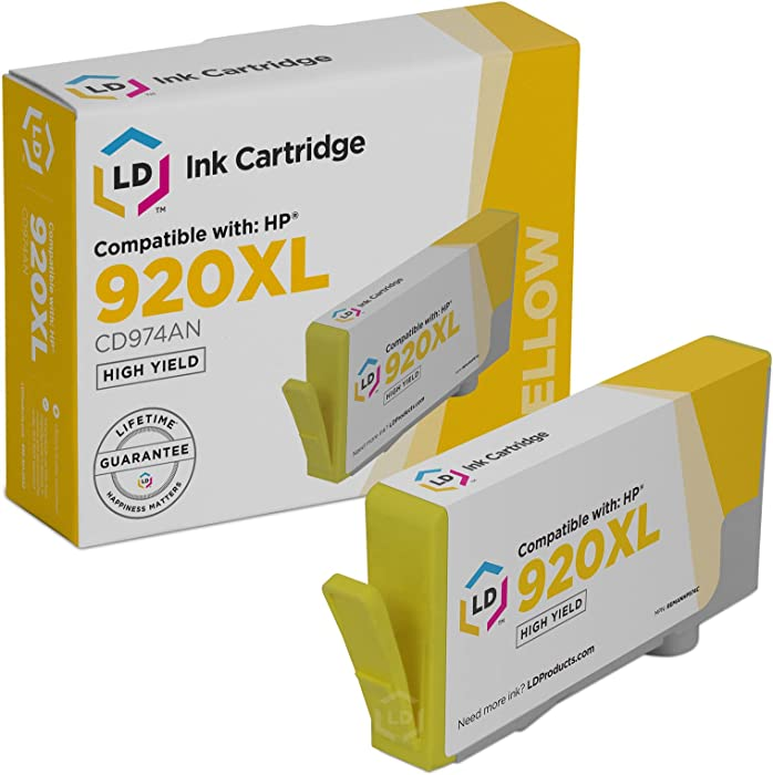 LD Remanufactured Ink Cartridge Replacement for HP 920XL CD974AN High Yield (Yellow)