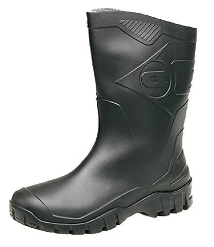 Dunlop Wide-Calf Half-Height Wellies. Sizes 4-12UK (4 UK